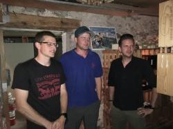 Die drei frischgebackenen Korporäle